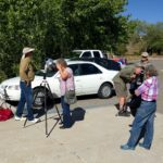 The Santa Fe Stargazers offering public solar observing at the Vista Grande Public Library.