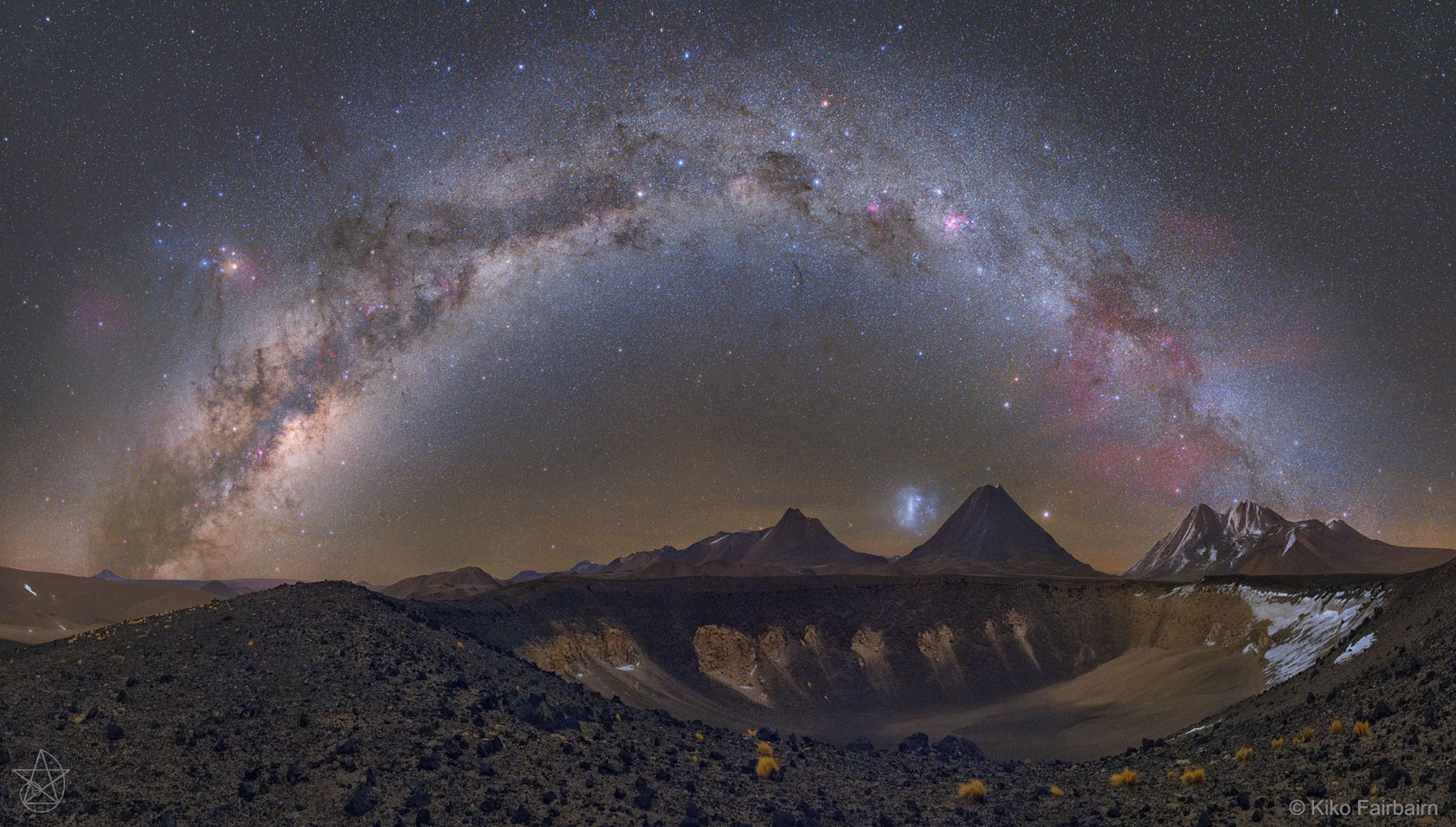 Milky Way over Chilean Volcanoes. Image Credit & Copyright: Carlos Eduardo Fairbairn